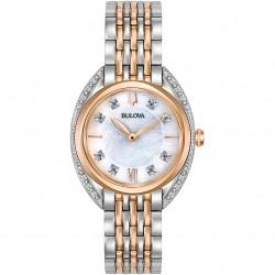 Orologio Donna Curv Bicolore con Diamanti - Bulova