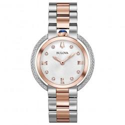 Orologio Donna Rubayat Acciaio Bicolor con Diamanti - Bulova