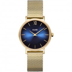 Orologio Donna Minuit Mesh Gold and Blu - Cluse