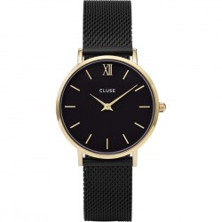 Orologio Donna Minuit Mesh Gold Black - Cluse