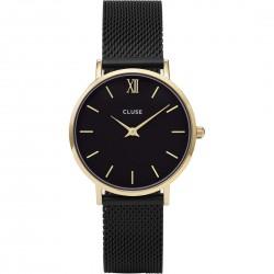 Orologio Donna Minuit Mesh Gold Black - Cluse