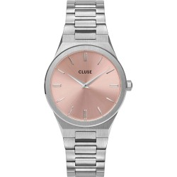 Orologio Donna Vigoureux Salmon Pink and Silver - Cluse