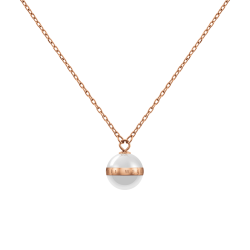 Collana Donna Aspiration con Sfera in Ceramica Bianca- Daniel Wellington