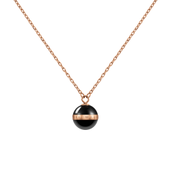 Collana Donna Aspiration con Sfera in Ceramica Nera- Daniel Wellington