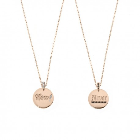Collana Donna Madly con Medaglia Doubleface Now or Never - Rue des Mille
