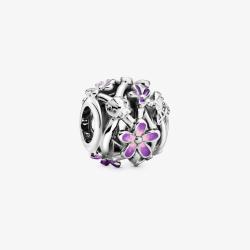 Charm Openwork Margherite Viola- Pandora