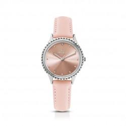 Orologio Donna Solo Tempo Cinturino in Pelle Rosa - Ops Objects