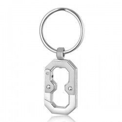 K2 Man Keychain in Steel - Brosway