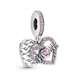 Charm Pendente Cuori Amore Per Mamma - Pandora