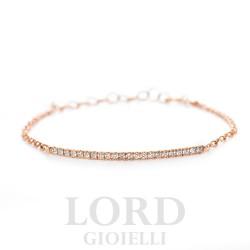 Bracciale in Oro Rosa con Diamanti ct.0.33 - Davite & Delucchi