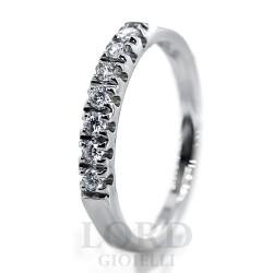 Anello Donna In oro Bianco Riviera con Sette Diamanti ct.0.22 HP1/EE10 - Mirco Visconti