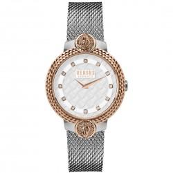 Orologio Donna in Acciaio Bicolor Mouffetard con Quadrante Bianco Solo Tempo VSPLK1520 - Versus