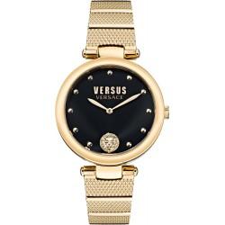 orologio Donna in Acciaio Dorato Los Feliz con Quadrante Nero Solo Tempo VSP1G0621 - Versus