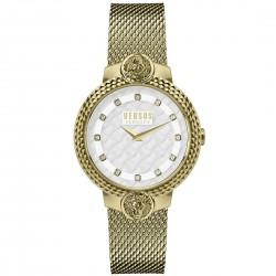 Orologio Donna in Acciaio Dorato Mouffetard con Quadrante Bianco Solo Tempo VSPLK1720 - Versus