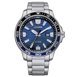 Orologio Uomo in Acciaio Eco-Drive con Quadrante Blu AW1525-81L - Citizen