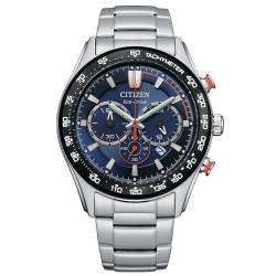 Orologio Uomo in Acciaio Eco-Drive Cronografo con Quadrante Blu CA4486-82L - Citizen