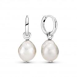 Orecchini In Argento Cerchi con perle Luminose - Pandora