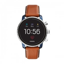 Orologio Smartwatch Amoled - Q Explorist Cinturino Cuoio - Fossil