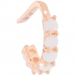 Mono orecchino Ear Cuff in Argento Rosè con Pietre Bianche SGEORB07 - Rebecca