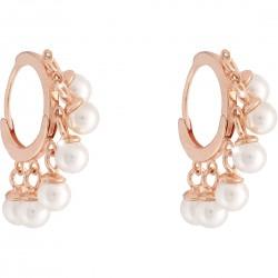 Orecchini in Argento Rosè con Perline Pendenti SGEORB14 - Rebecca