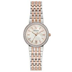 Orologio Donna in Acciaio Bicolore con Ghiera con Diamanti 98R280 - Bulova