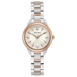 orologio Donna in Acciao Bicolore con Diamanti 98P200 - Bulova