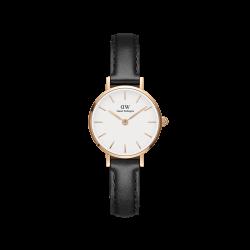 Orologio Donna Solo tempo in Pelle Nera Quadrante bianco 24mm DW00100443 - Daniel Wellington