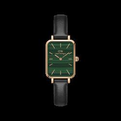Orologio Donna Solo Tempo in Pelle Nera Quadrante Verde Quadrato DW00100439 - Daniel Wellington