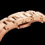 Orologio Iconic Link in Acciaio Rosè con Quadrante Nero 28mm - Daniel Wellington