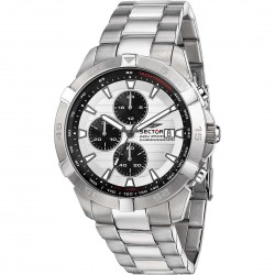 Orolo0gio Uomo ADV2600 Cronografo Acciaio e Quadrante Silver - Sector