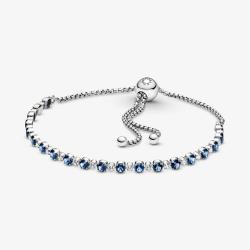 Bracciale Blu Scintillante con Chiusura Regolabile - Pandora