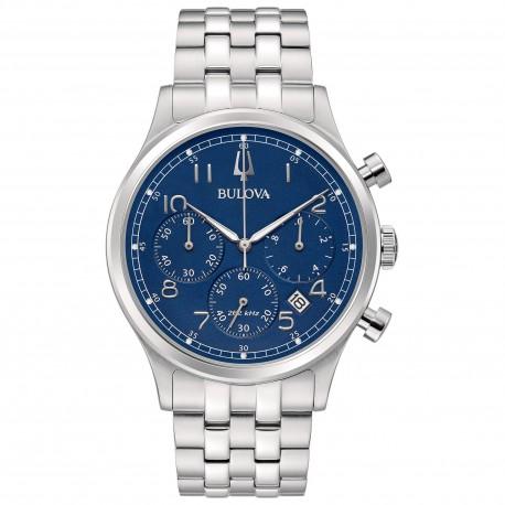 Orologio Uomo Precisionist Cronografo in Acciaio Quadrante Blu - Bulova