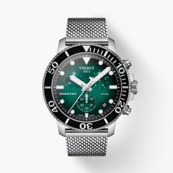 Orologio Uomo Seastar 1000 Cronografo Maglia Milano Quadrante Verde - Tissot
