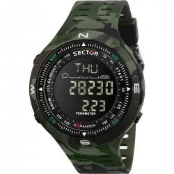 orologio Uomo In Silicone Verde Camouflage R3251541002 - Sector