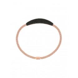 Bracciale Donna in Argento Rosè con Polvere Nera - Pesavento