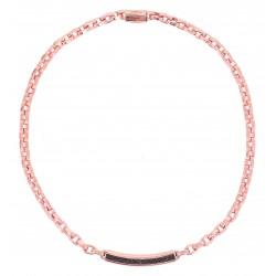 Collana Donna in Argento Rosè con Targhetta con Polvere di Diamanti Bronzo WPLVG243 - Pesavento