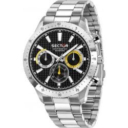 orologio Uomo 270 Cronografo in Acciaio con Quadrante Nero - Sector
