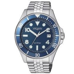 Orologio Uomo in Acciaio con Quadrante Blu - Vagary