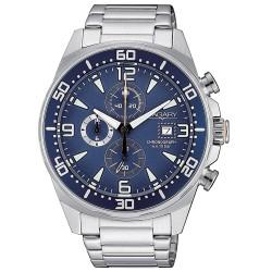 Orologio Uomo in Acciaio Cronografo con Quadrante Blu - Vagary