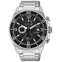 Orologio Uomo in Acciaio Cronografo con Quadrante Nero - Vagary