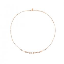 Collana Donna in Argento Rosè  Catena con Zirconi - Rue Des Mille