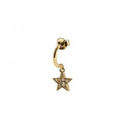 Mono Orecchino Stardust Classic Stella Zirconata in Argento Dorato - Rue Des Mille