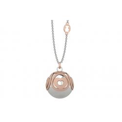 Collana Donna Chiamangeli Sfera Argento Cuori Rosè - Nanan