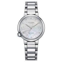 Orologio Donna Solo Tempo Quadrante Madreperla e Diamanti EM0910-80D - Citizen