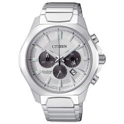 Orologio Uomo Crono Super Titanio 4320 Quadrante Silver CA4320-51A - Citizen