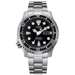 Orologio Uomo Diver's 200m in Acciaio con Quadrante Nero NY0040-50E - Citizen