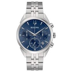 Orologio Uomo in Acciaio Crono HP262 con Quadrante Blu 96B373 - Bulova
