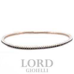 Bracciale Tennis in Oro Rosa con Brillanti Neri ct.0.90 - Davite & Delucchi