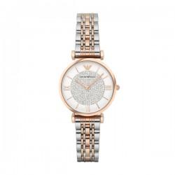Orologio Gianni T-bar Donna Solo Tempo Silver/Rose Gold - Emporio Armani