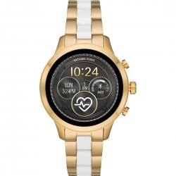 Smartwatch Runway Donna Gold con Silicone Bianco - Michael Kors